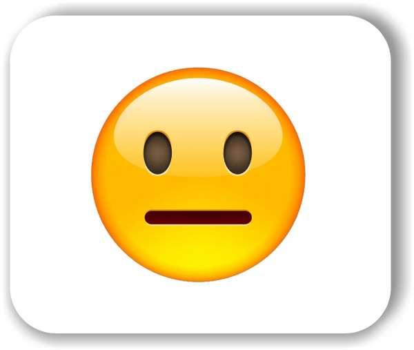 Strichgesicht - Emoticon - Neutral oder Pokerface