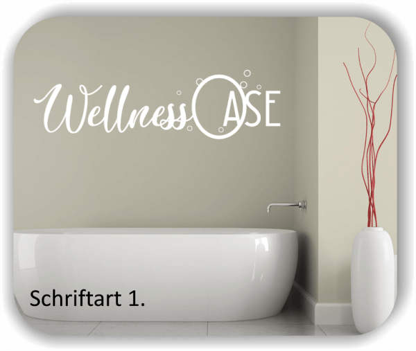 Wandtattoos Bad - Wellness Oase