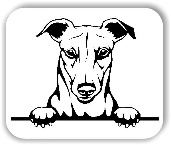 Wandtattoos Tiere - Hunde - Greyhound - ohne Rassename