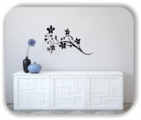 Ornamente China Floral - Wandtattoo - ab 50x30 cm - Motiv 3125