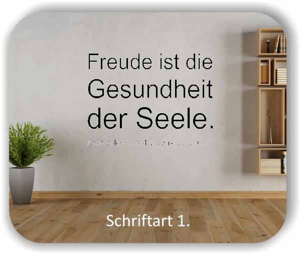 Wandtattoos - Sprüche & Zitate - Freude ist die Gesundheit...