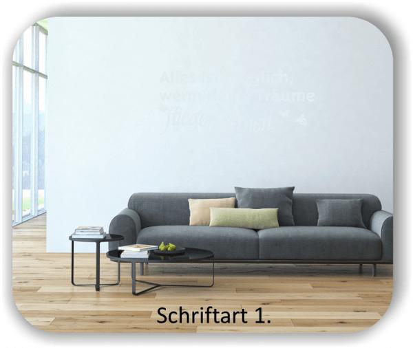 Wandtattoos - Sprüche & Zitate - Alles ist möglich, wenn...