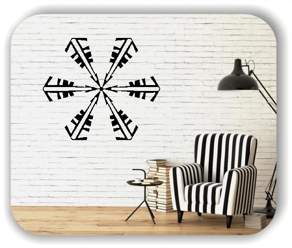 Snowflakes Wandtattoos - Schneeflocke - ab 50x43 cm - Motiv 2581