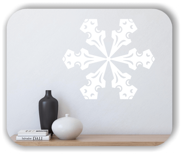 Snowflakes Wandtattoos - Schneeflocke - ab 50x43 cm - Motiv 2587