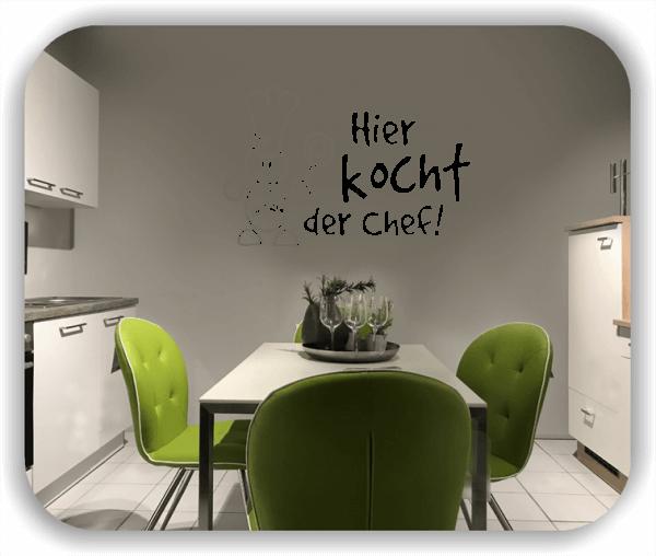 Wandtattoos Spruch Küche - Hier kocht der Chef!