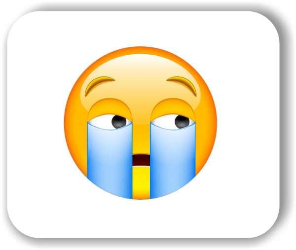 Strichgesicht - Emoticon - Heftig weinendes Gesicht