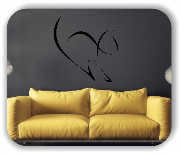 Wandtattoos Tiere - ab 50x51 cm - Katze