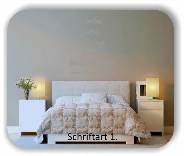 Wandtattoos - Sprüche & Zitate - Glaube, Liebe, Hoffnung...