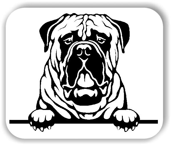 Wandtattoos Tiere - Hunde - Bullmastiff - ohne Rassename