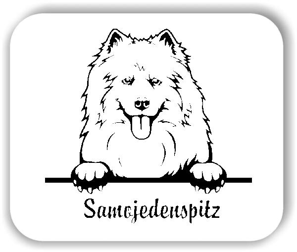 Wandtattoos Tiere - Hunde - Samojedenspitz