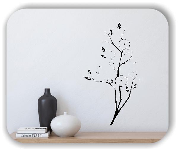 Florale Wandtattoos Japan Motiv - ab 33x60 cm - Motiv 3239