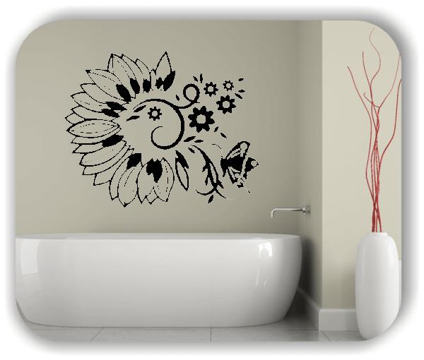 Ornamente China Floral - Wandtattoo - ab 50x40 cm - Motiv 3147