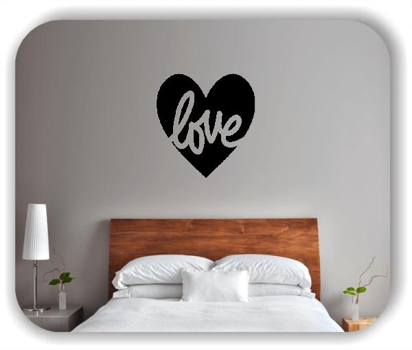 Wandtattoos Liebe - Love mit Herz