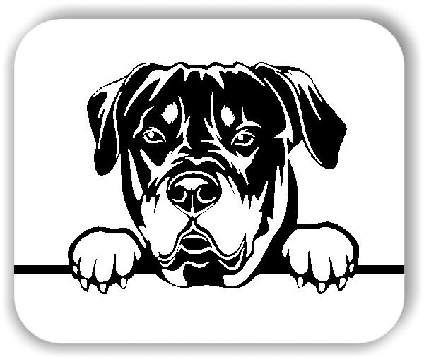 Wandtattoos Tiere - Hunde - Rottweiler 2 - ohne Rassename