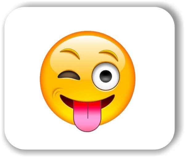 Strichgesicht - Emoticon - Zwinkerndes Auge und rausgestreckte Zunge