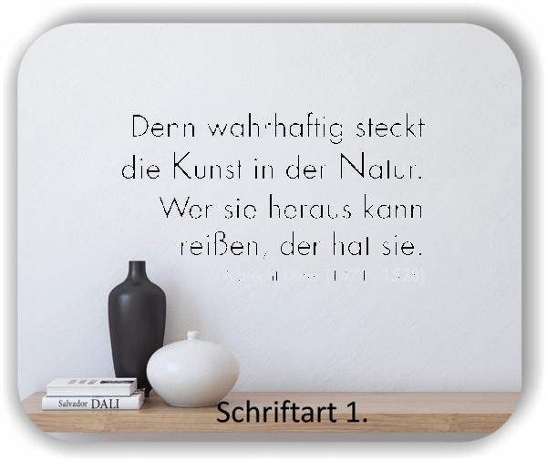 Wandtattoos - Sprüche & Zitate - Denn wahrhaftig steckt die Kunst in...