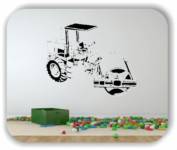 Wandtattoos Fahrzeuge - ab 50x40 cm - Planierwalze