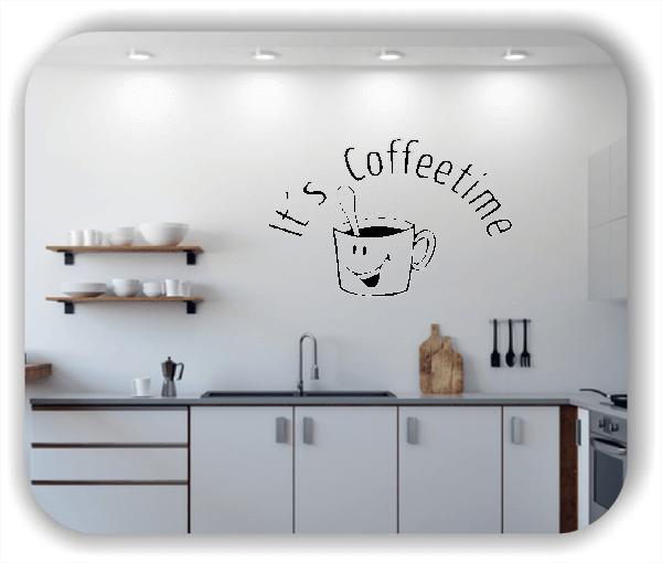 Wandtattoos Spruch Küche - It`s Coffeetime