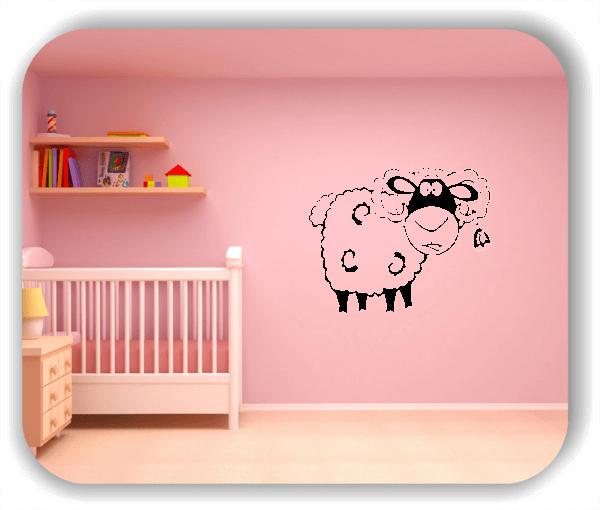 Wandtattoos Tiere - Schaf mit Glocke
