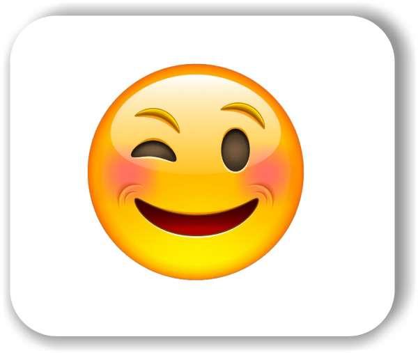 Strichgesicht - Emoticon - Zwinkerndes Gesicht