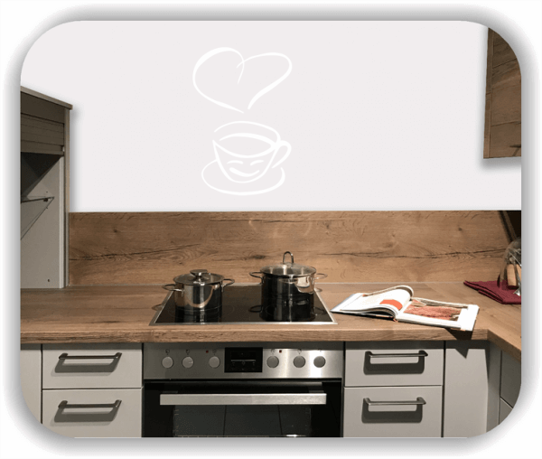 Wandtattoos Spruch Küche - Tasse mit Herz