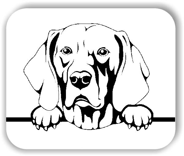 Wandtattoos Tiere - Hunde - Weimaraner - ohne Rassename