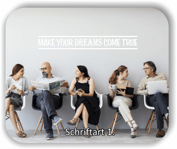 Wandtattoos - Sprüche & Zitate – Make your dreams come true