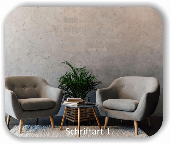 Wandtattoos - Sprüche & Zitate - Home is where love resides...