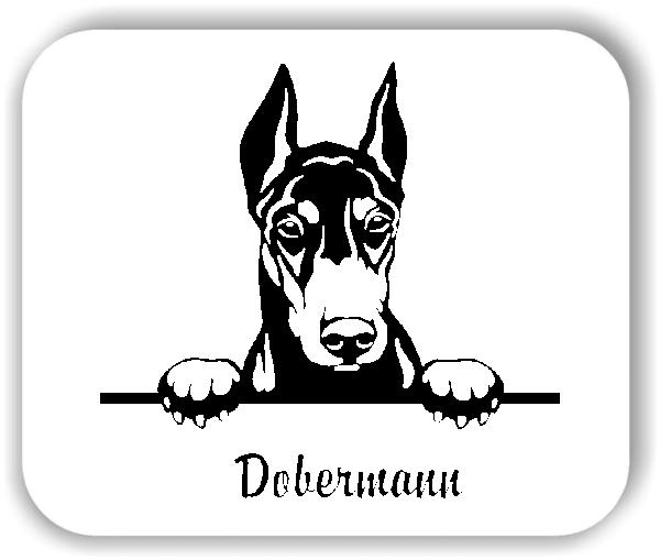 Wandtattoos Tiere - Hunde - Dobermann Variante 2