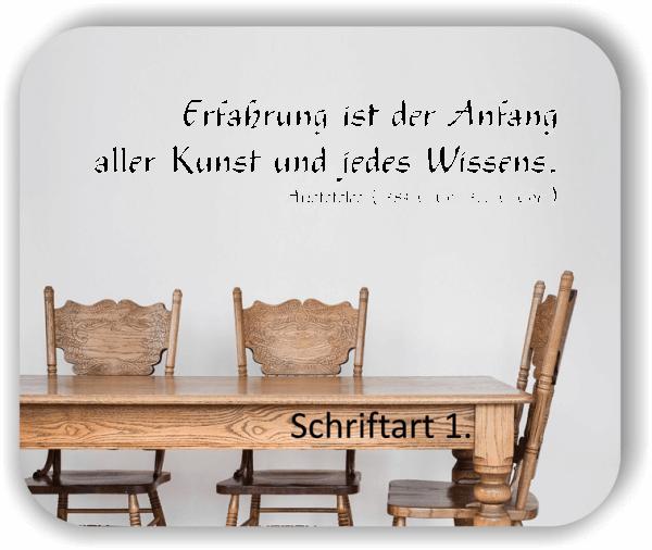 Wandtattoos - Sprüche & Zitate – Erfahrung ist der Anfang...