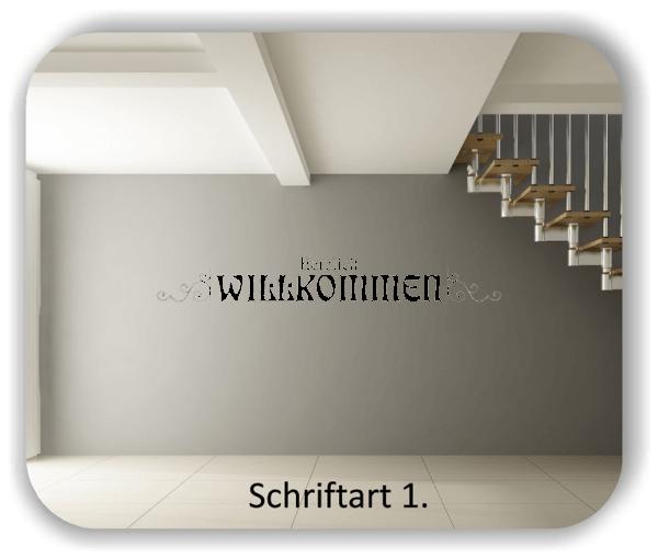 Wandtattoos – Spruch – Herzlich Willkommen