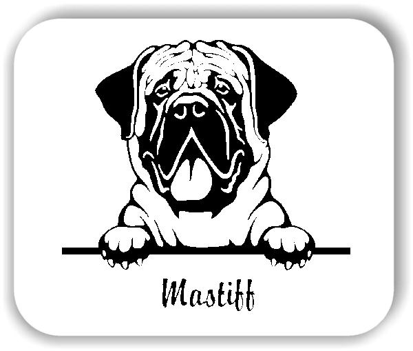 Wandtattoos Tiere - Hunde - Mastiff