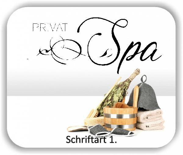 Wandtattoos Spruch Wellness - Privat Spa