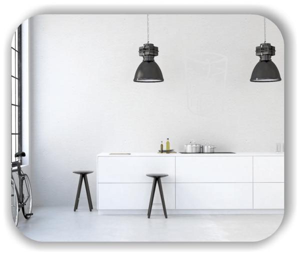 Wandtattoos Spruch Küche - Teeglas mit Teebeutel