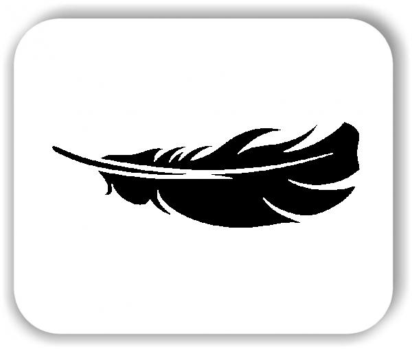 Feder Wandtattoo - VPE: 1 Stück - Motiv 2