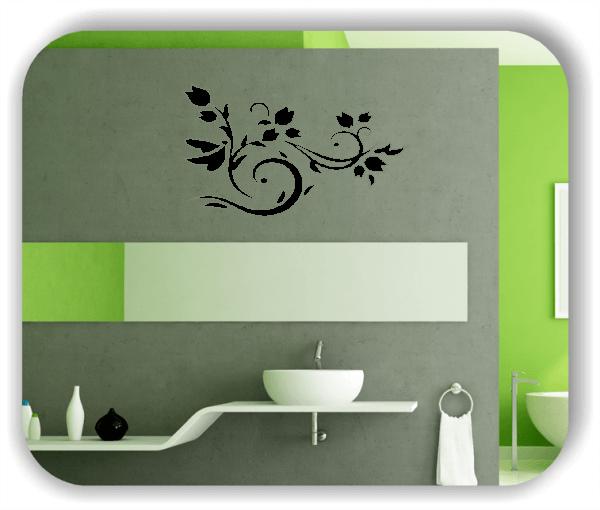 Ornamente China Floral - Wandtattoo - ab 50x30 cm - Motiv 3123
