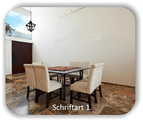 Wandtattoos Spruch - Gerichts Saal