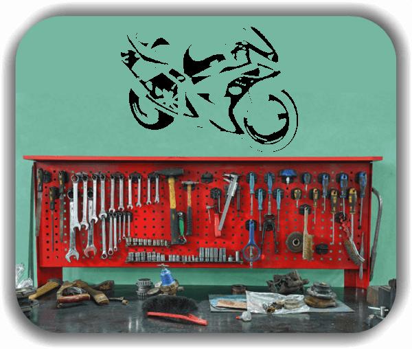 Wandtattoos Fahrzeuge - ab 50x34 cm - Motorrad