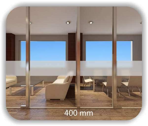 Milchige Sichtschutzfolie / Durchlaufschutzfolie - Höhe: 40 cm - Streifen