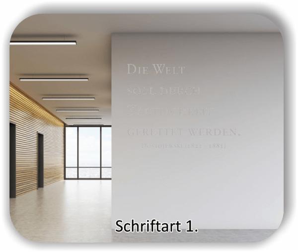 Wandtattoos - Sprüche & Zitate - Die Welt soll durch Zärtlichkeit...