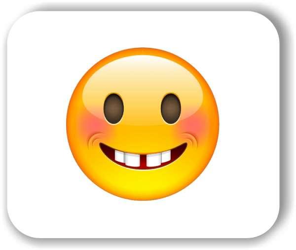 Strichgesicht - Emoticon - Lachendes Gesicht mit roten Wangen