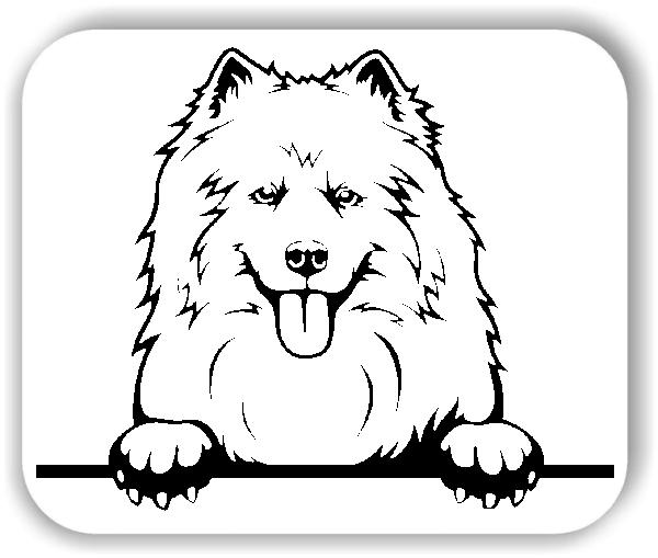 Wandtattoos Tiere - Hunde - Samojedenspitz - ohne Rassename