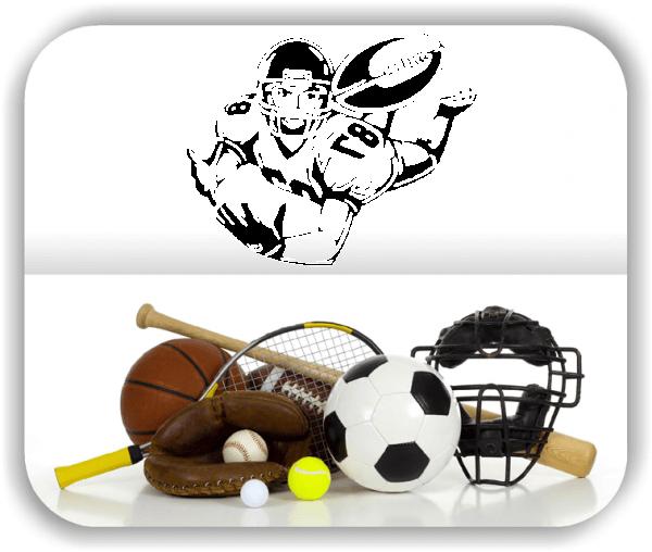 Wandtattoos Hobby / Sport - ab 50x40 cm - Rugby