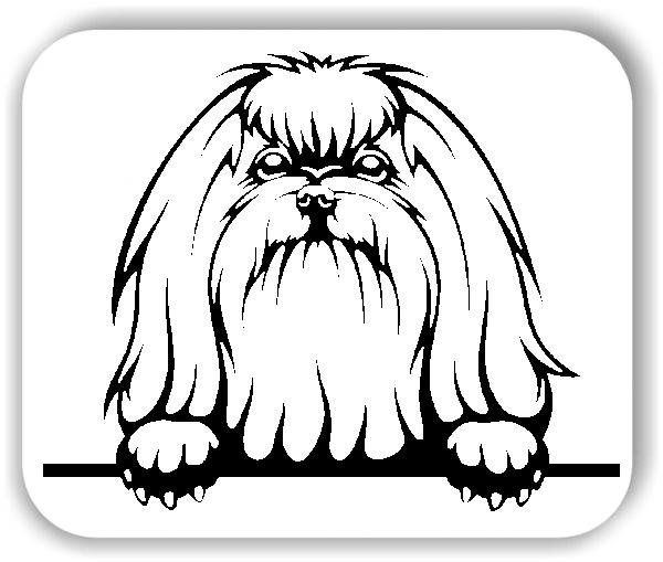 Wandtattoos Tiere - Hunde - Malteser 3 - ohne Rassename