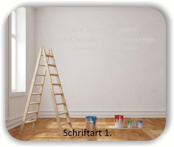 Wandtattoos - Sprüche & Zitate - Die Sprache gehört zum...