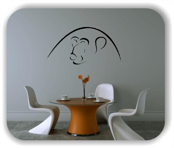 Wandtattoos Tiere - ab 50x25 cm - Affe