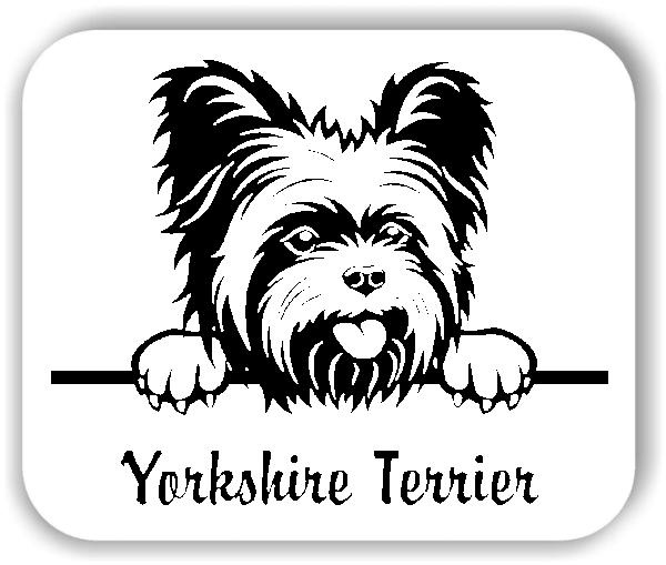Wandtattoos Tiere - Hunde - Yorkshire Terrier Variante 1