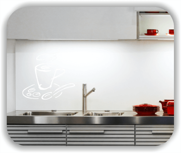 Wandtattoos Spruch Küche - Cappuccino Becher