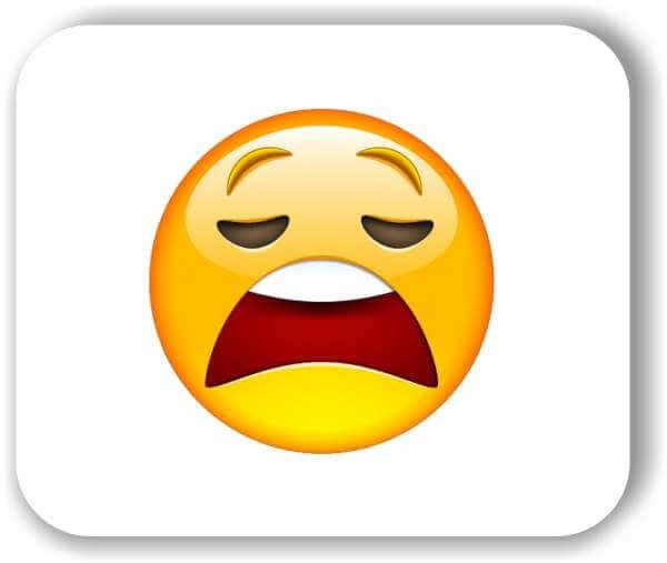 Strichgesicht - Emoticon - Schockiertes/Angewiedertes Gesicht