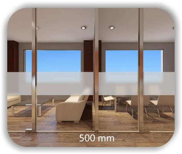 Milchige Sichtschutzfolie / Durchlaufschutzfolie - Höhe: 50 cm - Streifen